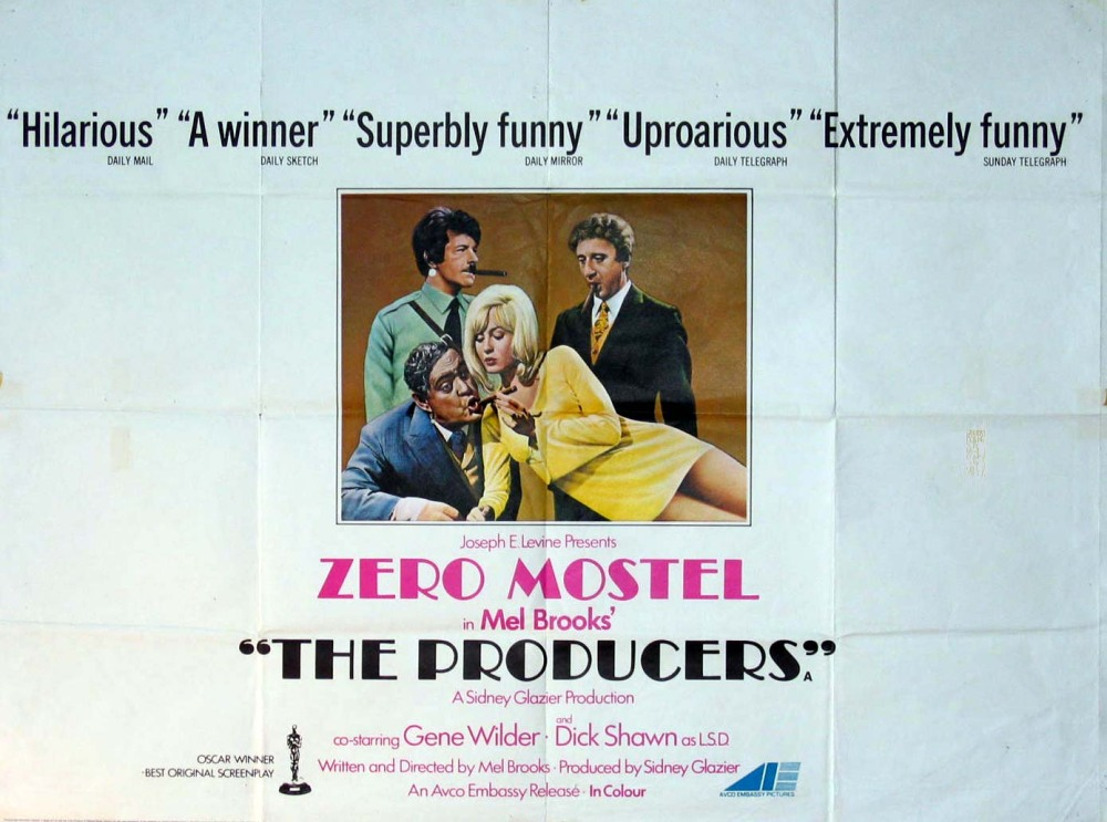 Image result for the producers 1968 poster