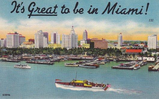 vintage miami postcard