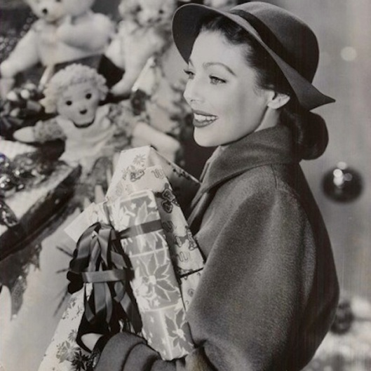 vintage christmas shopping