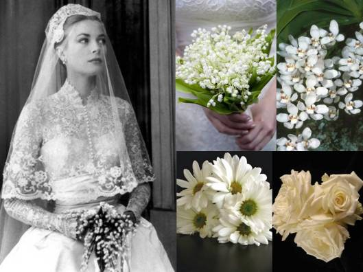 grace kelly wedding flowers